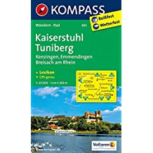 Kaiserstuhl, Tuniberg, Kenzingen, Emmendingen, Breisach am Rhein: Wandern, Rad - GPS-genau (KOMPASS-Wanderkarten, Band 883)