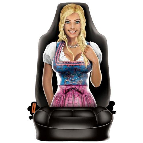 Preisvergleich Produktbild Lustiger Fun Auto-Sitzbezug: Sexy Blond Girl Trachten - Täuschend echt - Der Hingucker für Volksfeste und Dult