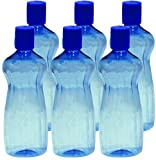 #5: Princeware Aster Pet Fridge Bottle, 500ml, Set of 6, Blue