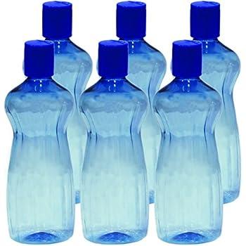 Princeware Aster Pet Fridge Bottle, 500ml, Set of 6, Blue
