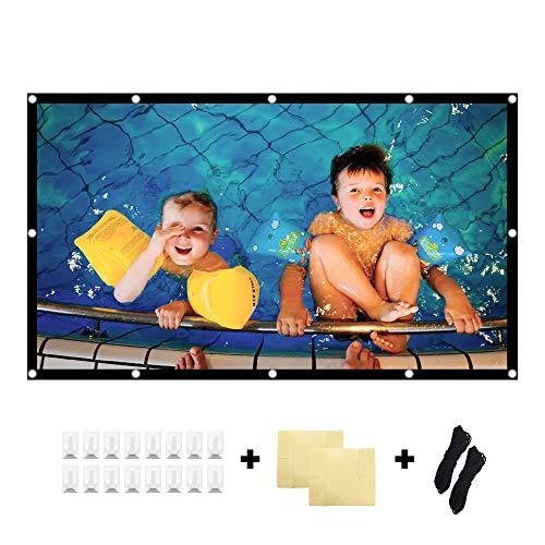 KPCB Beamer Leinwand 16: 9 HD 4K Faltbarer Faltenresistent, geeignet für Heimkino und Außenfilm (100 Zoll)