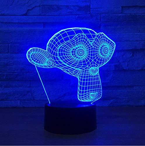 Blbling Schöne Monkey Led 3D Nachtlichter 7 Farbwechsel Usb Touch Schalter Lampe Baby Schlafen 3D Tischlampe Kind Spielzeug Geschenk