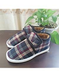 36014f119172e Home cotone pantofole scarpe caldo uomini e donne borsa a mano con gli  anziani plus velvet inverno anti-slittamento…