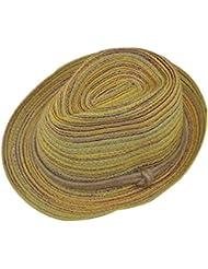 Leisial Verano otoño Sombrero de Paja Rayas Sombrero de la Playa Plegable Sombrero para Mujer,7 Colores