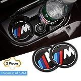 S-WEKA Gamme M - Lot de 2 sous-verres antidérapants pour intérieur de voiture - BMW...