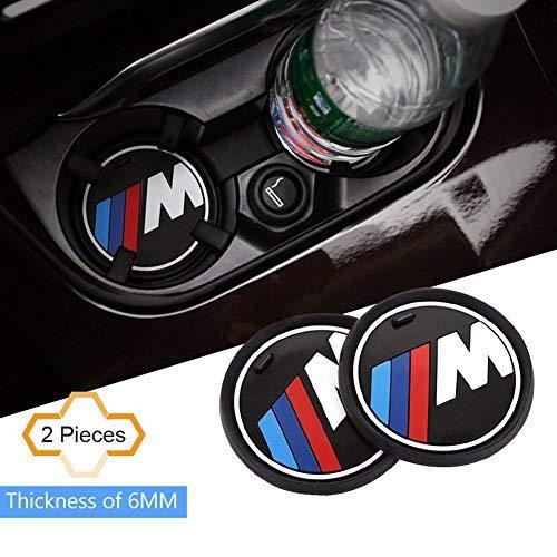 S-WEKA 2PCS m Linea Auto Accessori Interni Antiscivolo Cup Mat per BMW 1 3 5 7 Series F30 F35 320LI 316I X1 X3 X4 X5 X6 (7,4 cm di Diametro. X3/X4/5/7 Series ...
