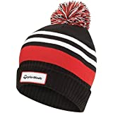 TaylorMade Mens Bobble Top Beanie Hat