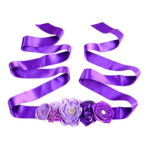 Demarkt Cinturones de Faja Nupcial Decoración de Flores para Boda Dama de Honor Vestido de Novia Mujer Ropa y Accesorios