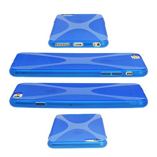 X Style Housse de protection bumper Coque de UltraSlim Housse Case Cover Coque en silicone bleu