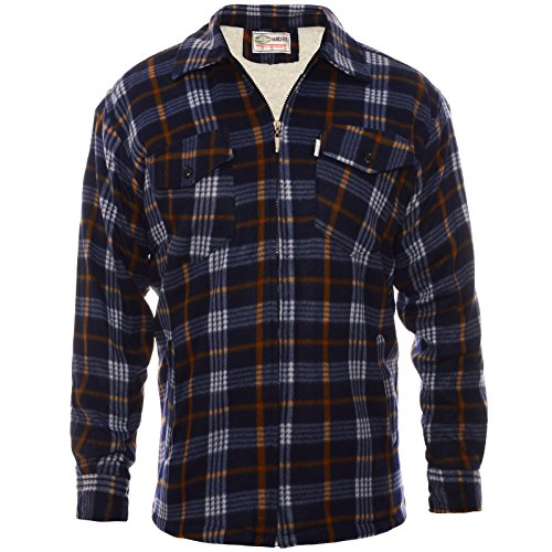 Herren Thermo Arbeits Hollzföllerhemd 21660, Größe:L, Farbe:Blau (Blu-hemd)