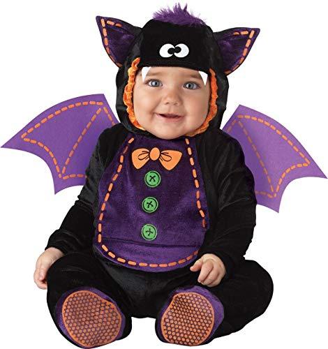 Fancy Me Deluxe Baby Jungen Mädchen Fledermaus Büchertag Halloween Charakter Kostüm Kleid Outfit - Schwarz, Schwarz, 12-18 Months (Kleine Mädchen Angel Kostüm)