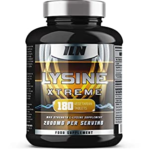 L-Lysine 1000mg x 180 Tablets | Vegetarian Lysine Supplement with 2000mg Daily Serving | Made in The UK