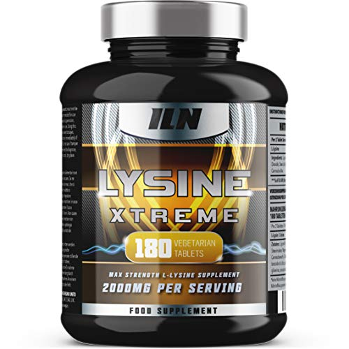 L-Lysine 1000mg x 180 Tablets | Vegetarian Lysine Supplement with 2000mg Daily Serving | Made in The...