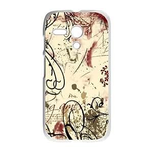 Motorola G Cell Phone Case White Flower Graph Design OJ430919