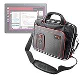 DURAGADGET Maletín con Diseño Ergonómico para la Tablet BQ Aquaris M10 Ubuntu Edition 10.1'   HD   Full HD - En Color Negro Y Rojo