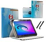 Tablet Tasche für Acer Iconia Talk S (A1-734) Schutz Hülle Etui Case + Touch Pen - 7 Zoll Eulen 2 360˚