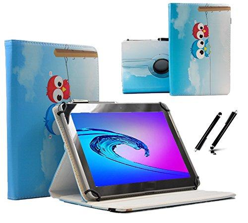 "Case Cover für Lenovo ideapad MIIX 310-10ICR 10.1\"" Tablet Schutzhülle Etui mit Touch Pen & Standfunktion - 10.1 Zoll Eule 2 360"