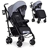 Poussette Canne Bebe pliable NITRO Premium - Aluminium Version, Couleur: Grey Fox