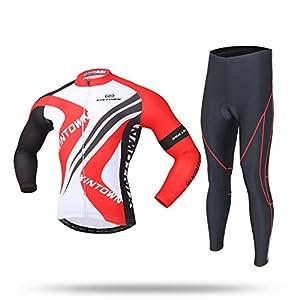51tqA37O94L. SS300 Sun Day Pullover e Pantaloni di Riciclaggio a Manica Lunga Traspirante degli Uomini, Set di Riciclaggio per Bicicletta…