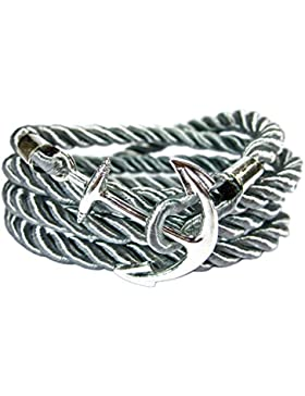 Geralin Gioielli Unisex Damen Handmade Anker Armband in Silber