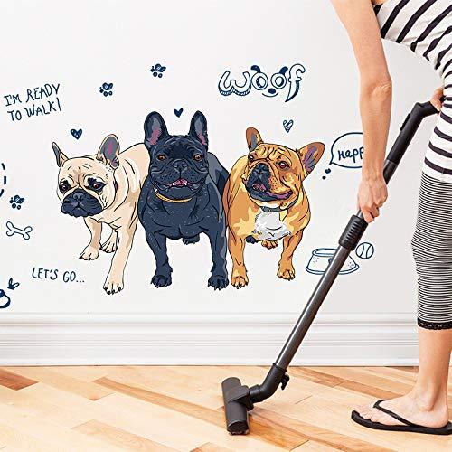 Wohnungseinrichtung Simulation französische Bulldogge Wand Aufkleber Wohnzimmer Schlafzimmer kreative Knochen Kinder Zimmer eemove Poster an der Wand