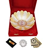 Silver Plated Bowl Set Glass Set Pooja Plate And Articles Dealer GS Museum Silver And Gold Plated Rosemary Bowl With Freebie