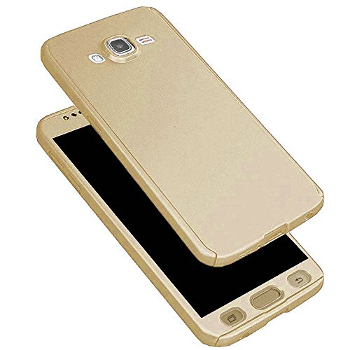 Johra High Quality iPaky 360 Protective Gold Golden Body Case Cover For Samsung On8 Back Cover