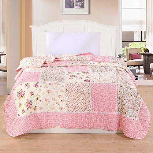Alicemall copriletto trapunta estate singolo coperta per letto dei bambini trapuntino patchwork peso leggero in cotone 150 x 200cm (stile 6)