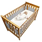 Safe Dreams Safebreathe Cot Wrap 2 faces, une circulation d'air maximum hypoallergénique respirant Tour de lit en gris