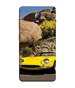 PrintVisa Designer Back Case Cover for Lenovo Vibe P1 :: Lenovo Vibe P1 Turbo :: Lenovo Vibe P1 Pro (Road Greenery Trees light Rock Transportation Power Tyres )