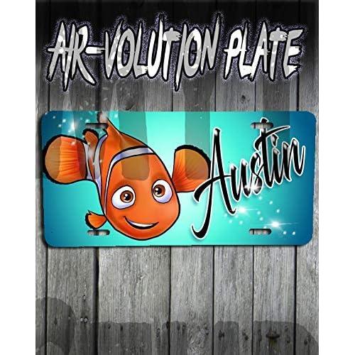 Mythic Airbrush Personalizado aerógrafo Buscando a Nemo etiqueta de la matrícula 5