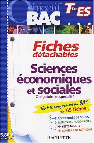 Sciences économiques et sociales Tle ES par Olivier Thierry