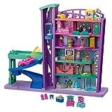 Polly Pocket- Mega Mall, Playset Centro Commericale con Due Bambole, Ascensore e Accessori, Giocattolo per Bambini 4+ Anni, GFP89