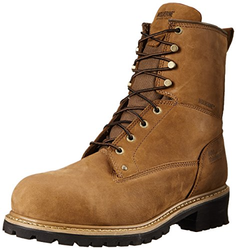 Wolverine Men's Snyder WPF Logger Steel Toe EH Work Boot Logger Boots