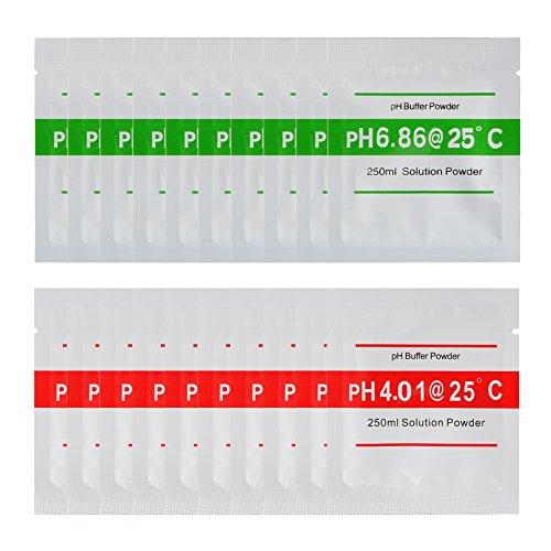XCSOURCE® 20stk 4.00 6.86 pH Meter Puffer Lösungs Puder für schnelle einfache präzise pH-Kalibrierung Wasserreinheit BI672