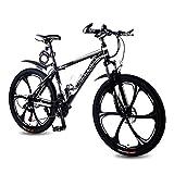 REETWO Vélo Homme Femme VTT 26 Pouces Vélo de Montagne Route Course Aluminium VTT Semi Rigide 21 Vitesses Shimano Double Freins a Disque Mixte Adulte Enfant (Noir)