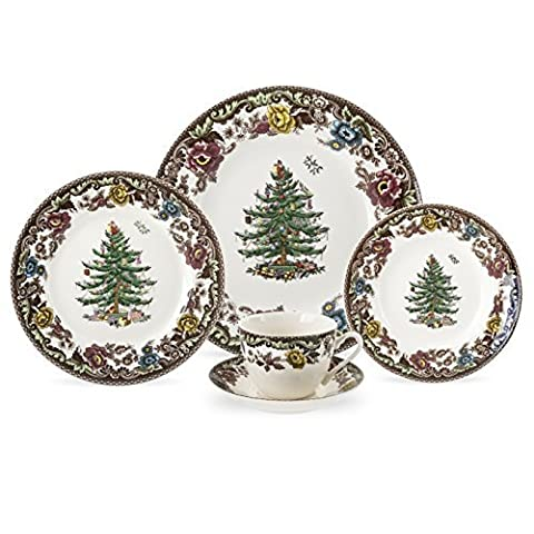 Spode Christmas Tree Grove 5-Piece Place Setting, Service for 1 by Spode