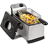 Andrew James Deep Fat Fryer | Food Grade Stainless Steel Large 3L Basket