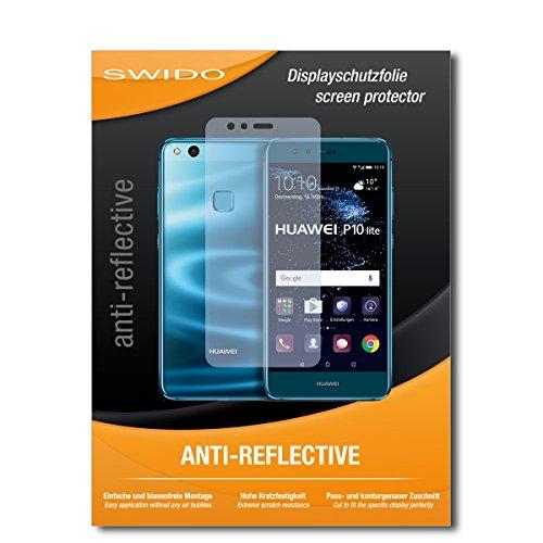 SWIDO Schutzfolie für Huawei P10 lite Dual SIM [2 Stück] Anti-Reflex MATT Entspiegelnd, Hoher Härtegrad, Schutz vor Kratzer/Displayschutz, Displayschutzfolie, Panzerglas-Folie