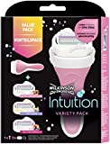 Wilkinson Sword Intuition Variety Razor Blades with 3 Blades for Women, Pack of 4