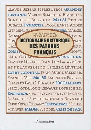 Dictionnaire historique des patrons franais