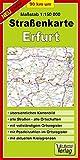 Straßenkarte 90 km um Erfurt: Maßstab 1:150000 - Verlag Dr. Barthel