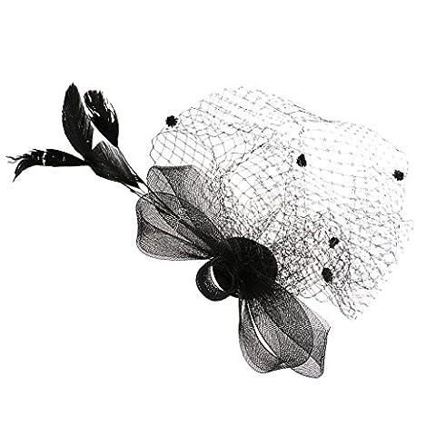 Damen Fascinator Hut Mini-Hut Blumen Tüll Netz Fasching Haarschmuck -