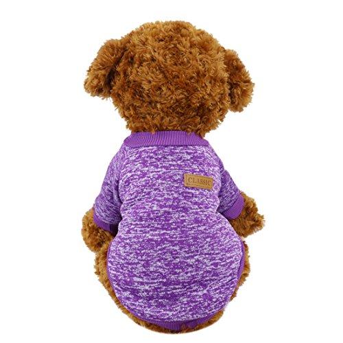 ic Strickwaren Pullover, Fleece Mantel für Kleine, Mittlere, Große Hunde, Warm Pet Hund Katze Kleidung, Weich Puppy customes, XXL, Violett ()