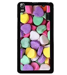 Printvisa Heart Shaped Candies Pattern Back Case Cover for Lenovo K3 Note