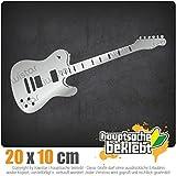 KIWISTAR E-Gitarre - Rock - Heavy Metal IN 15 FARBEN - Neon + Chrom! Sticker Aufkleber