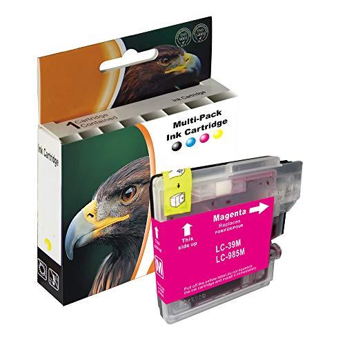 D&C 1x 10ml Magenta Druckerpatronen XL Kompatibel für Brother LC985 LC-985 für Brother DCP-J315W DCP-J515W DCP-J125 DCP-J415W MFC-250C MFC-490CW MFC-5490 MFC-890CN MFC-6490CW MFC-6890CDW MFC-J265W -