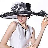 June's Young Damen-Hüte Organzahut Sommer Hut Sonnenhut eleganter Hut mit schwarz Blumen