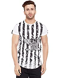 Le Bourgeois Men's White and Black eagle printed t-shirt