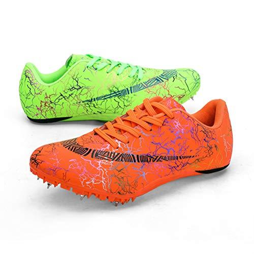 HYGLPXD Zapatillas de Atletismo Unisex Zapatillas de Cricket de Alta Elasticidad Zapatillas...